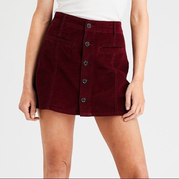 4bc25e5fc9 American Eagle Outfitters Dresses & Skirts - AE High Waisted Festival  Corduroy Skirt